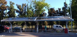 SHOPPING MENDOZA (IRSA): Parking Solar con paneles Glass Glass